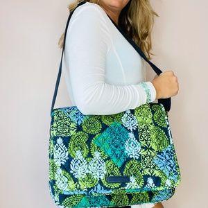 Vera Bradley messenger laptop bag Caribbean Sea